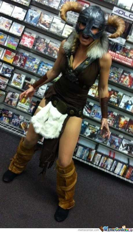 Sexy Cosplay+Video Game Store= Ultimate Woman