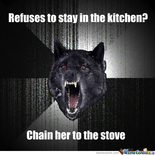 She wont stay in the kitchen?