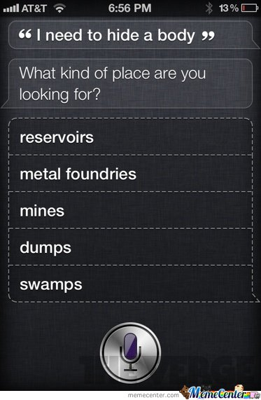 Siri: Dead Body Advice