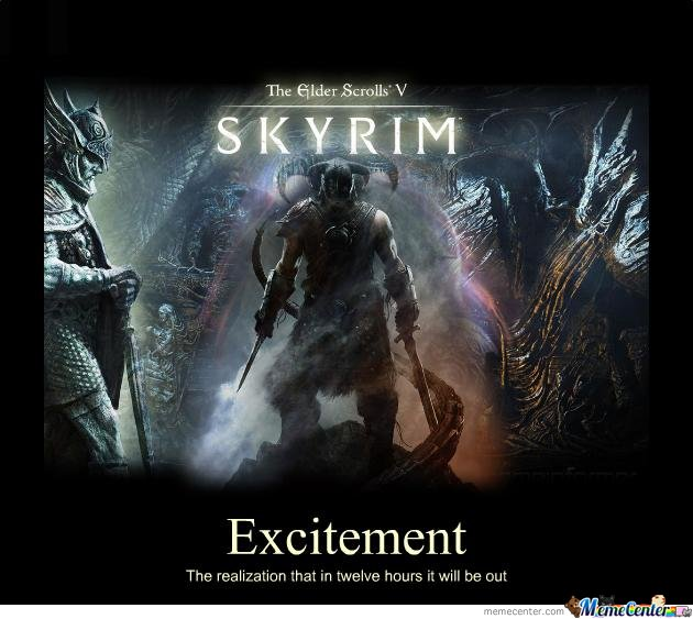 Skyrim Excitement