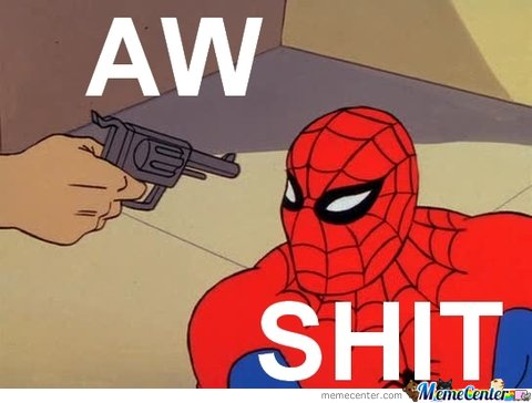 Spiderman is not bulletproof...