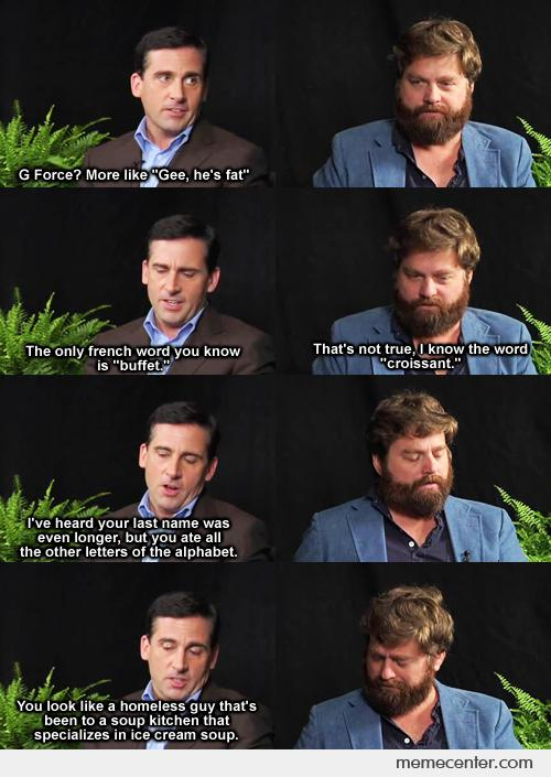 Steve Carell + Zack Galifianakis makes the best interview ever
