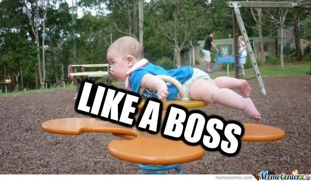 THIS BABY IS A BOSS
