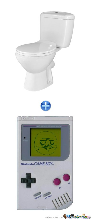 TOILET + GAME BOY
