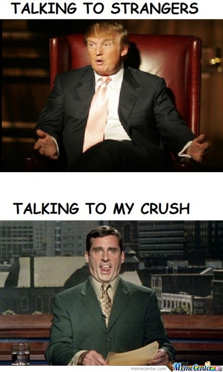 Talking to strangers & talking to my crush
