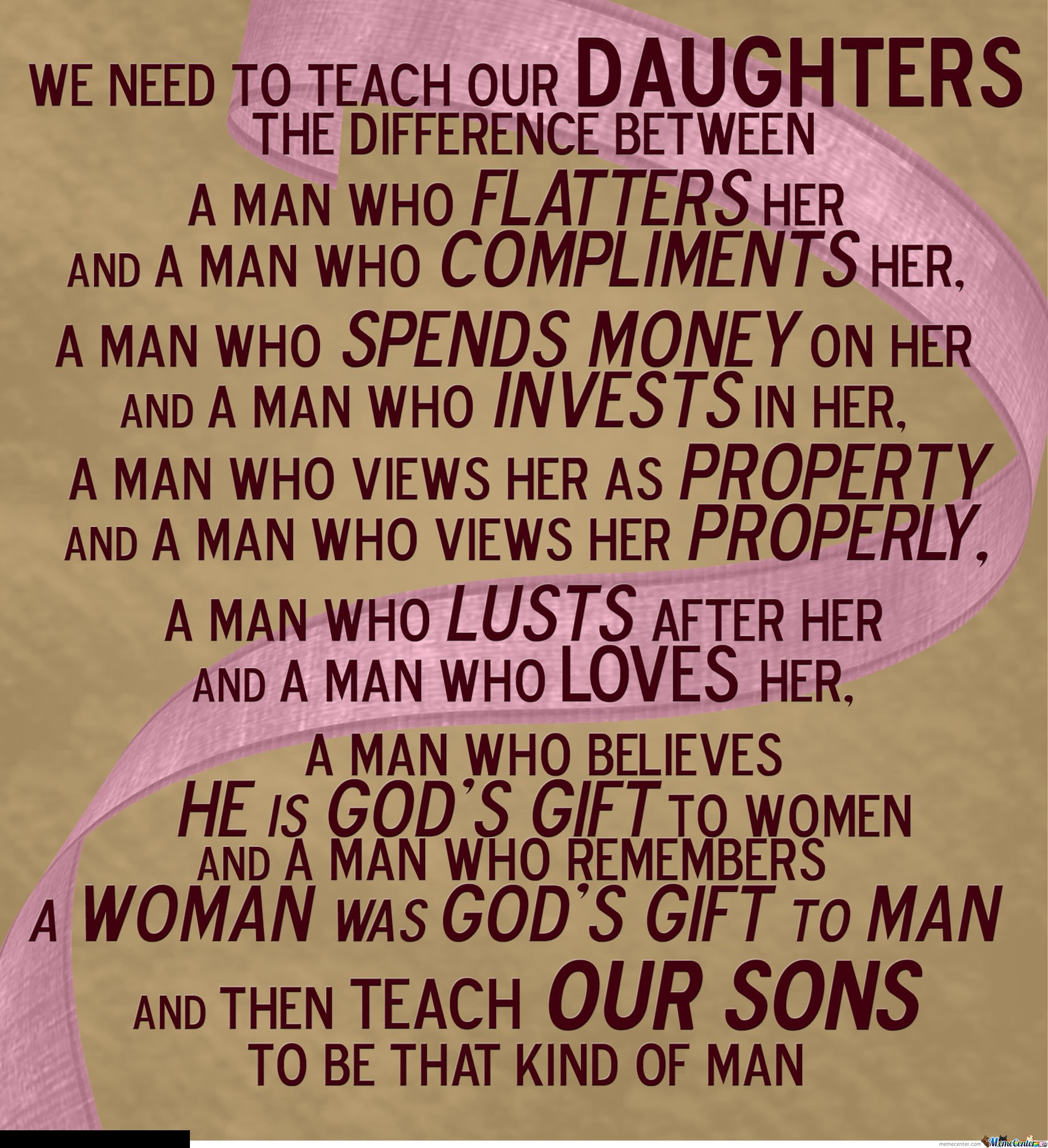 Teach Your Daughters
