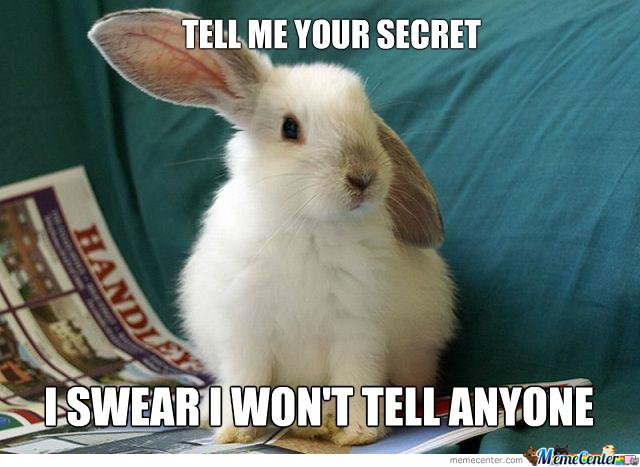 Tell The Cute Bunny Your Secret