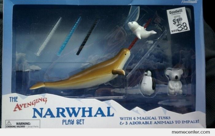 The Avenging Narwhal Play Set By Ben Meme Center