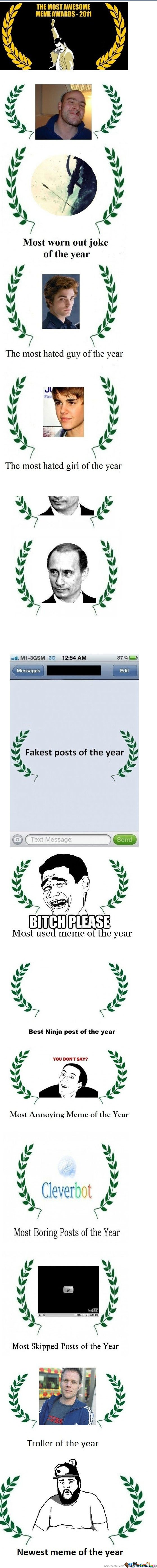 The Most Awesome Meme Awards - 2011