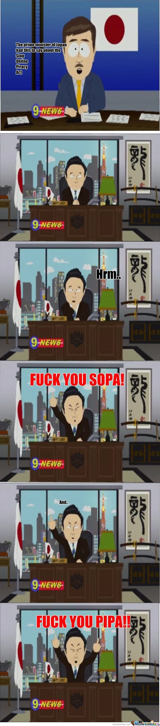 The prime minister of Japan had this to say