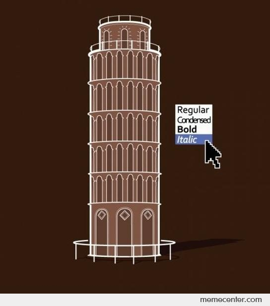 This is really how the Leaning Tower of Pisa was built