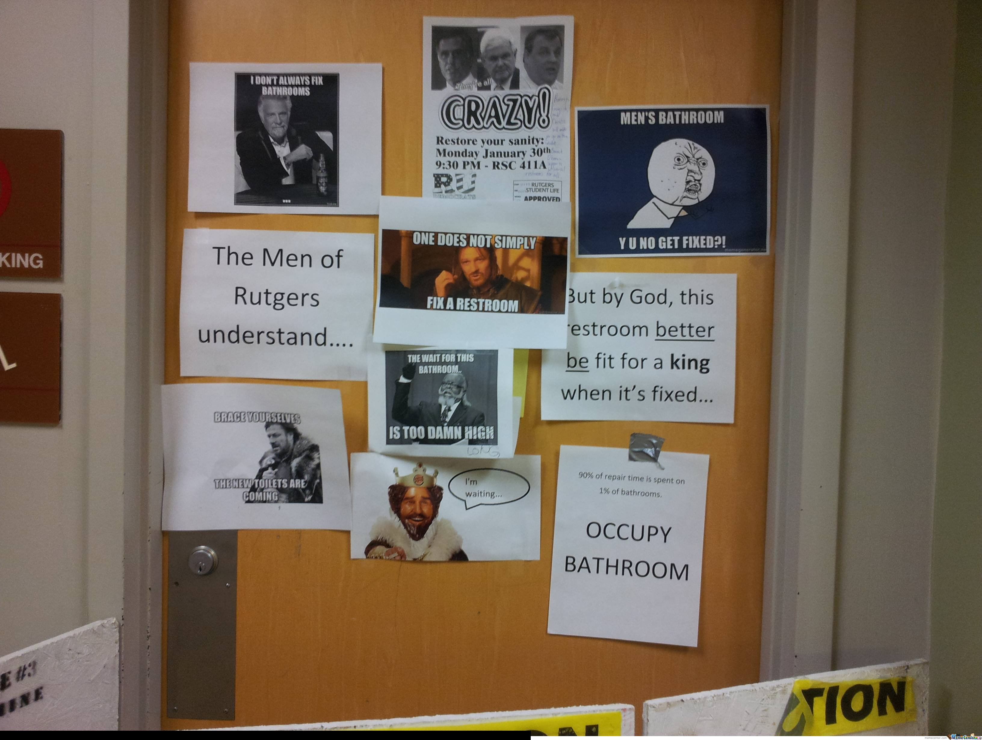 This is what happens when you close a university bathroom for a few months