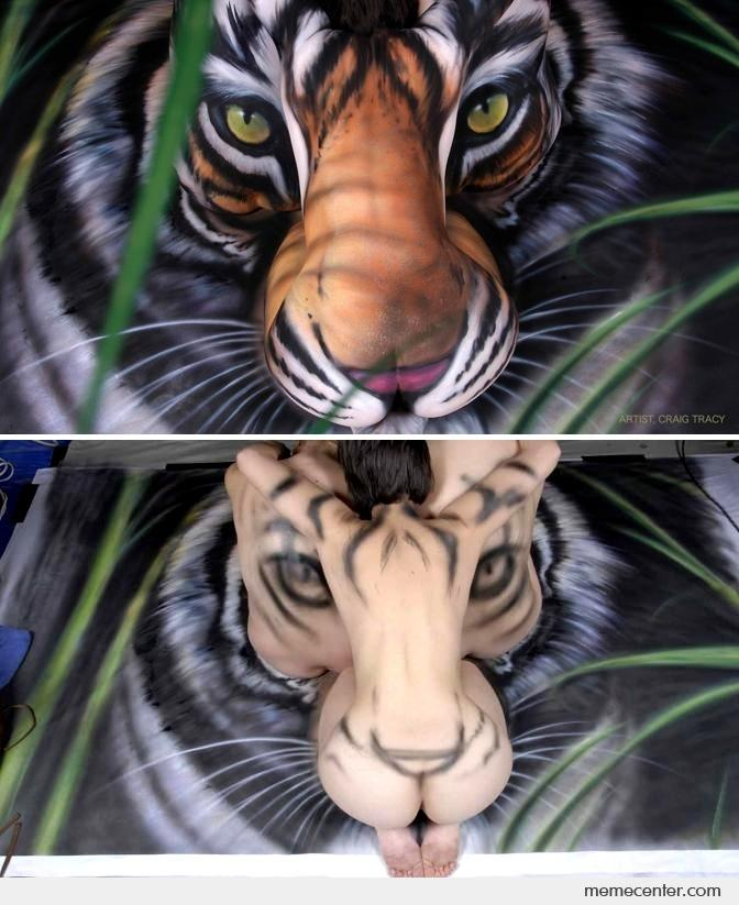 paint Tiger body