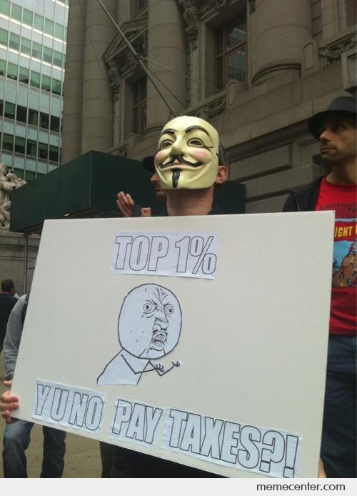 Top 1% YU NO Pay Taxes