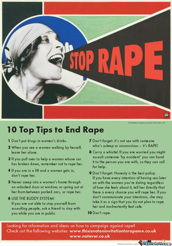 Top 10 Tips to Stop Rape