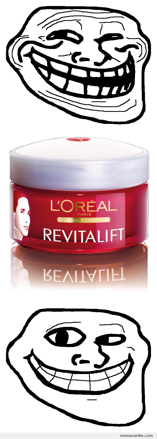 Trollface Before and after Revitalift