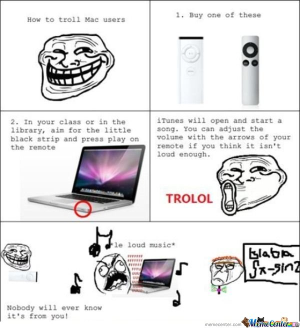Trolling Mac Users