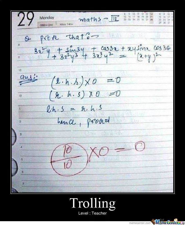 Trolling level : Teacher