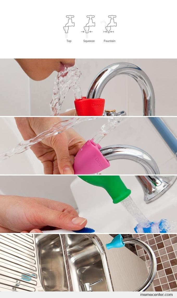 Turn Your Faucet Into A Water Fountain by ben - Meme Center