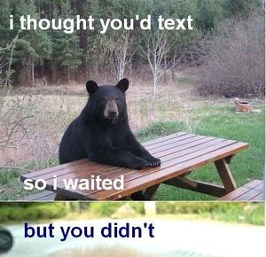 waiting for text message