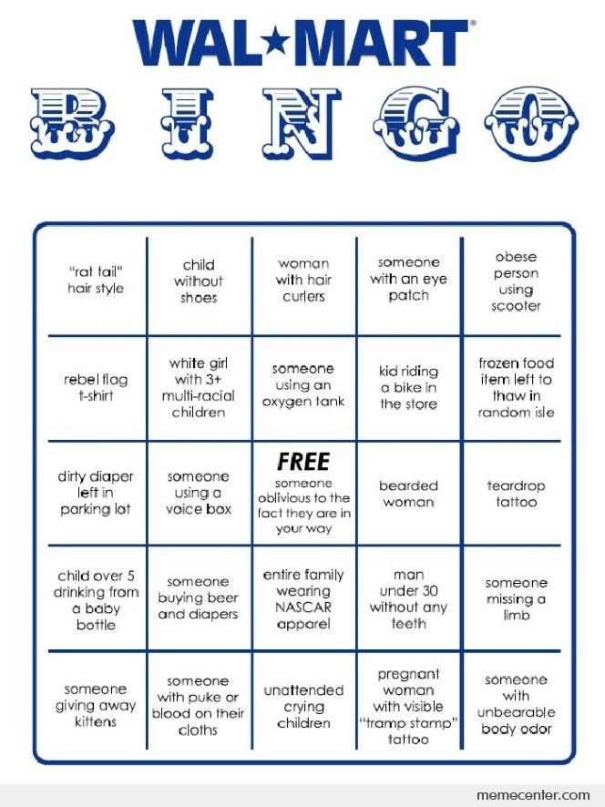 Wal Mart Bingo By Ben Meme Center
