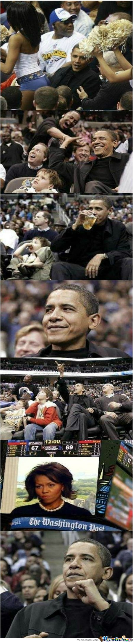 What a president cant enjoy a little