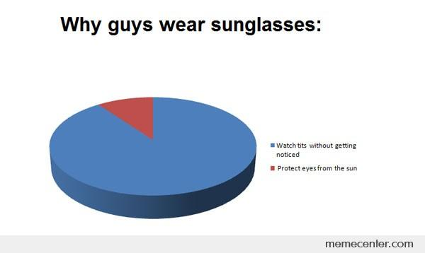 Why Guys Wear Sunglasses