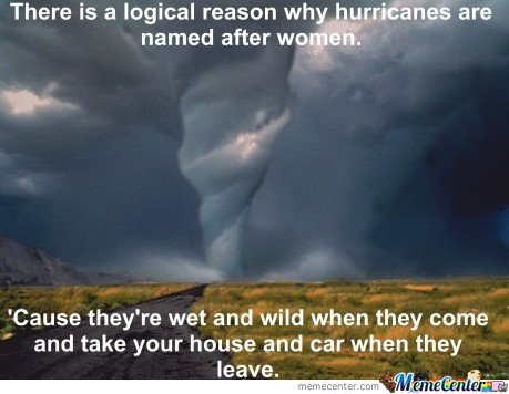 Why Hurricanes Are Named After Women