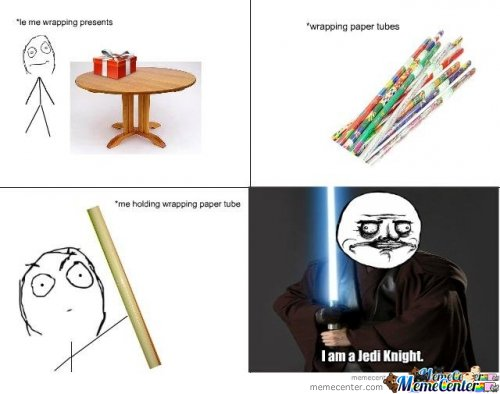 Wrapping paper Jedi