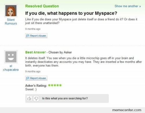 Yahoo Answers FAIL!