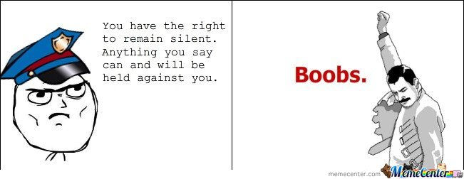 You Have The Rights To Remain Silent