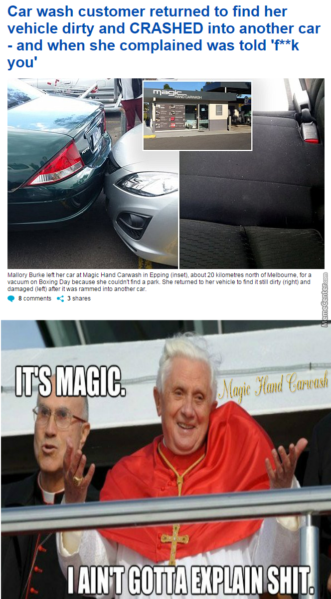 A Clean Car Is A Happy Car By Recyclebin Meme Center