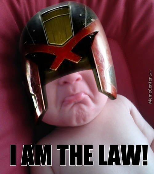 A Friends Kid Is Judge Dredd