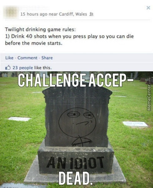 A Great Drinking Game To Die For