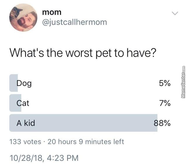 A Kid Is Obviously The Worst