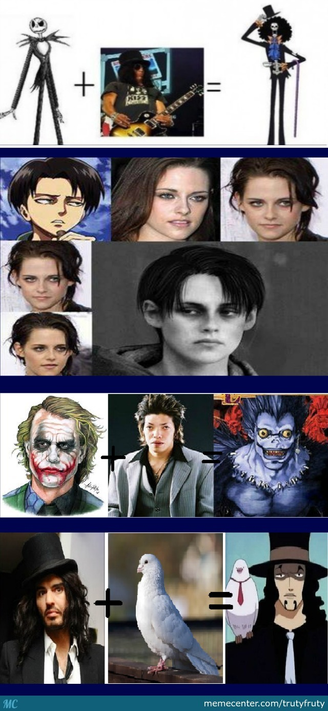 A Mix Of Real Life People And Anime Characters