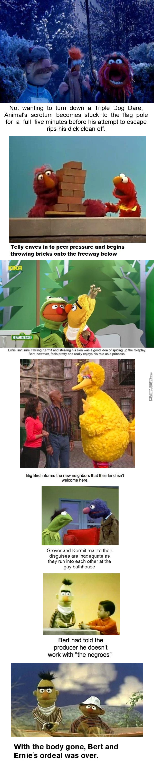 A New Sesame Street Thingy By The Big Bad Bear Meme Center