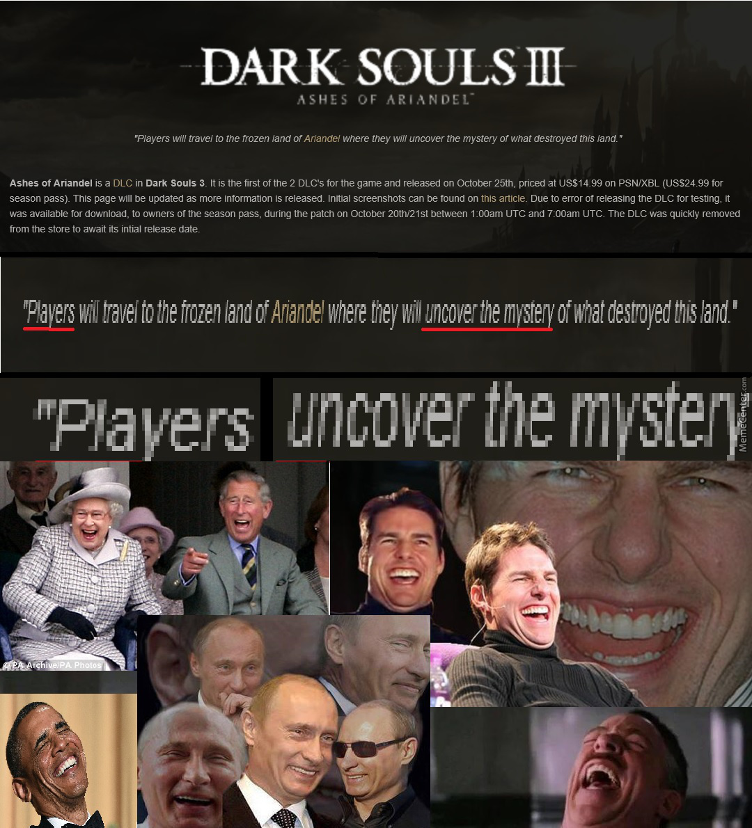 A Normal Player? Uncovering Dark Souls Lore? Yeah, Not Happening.