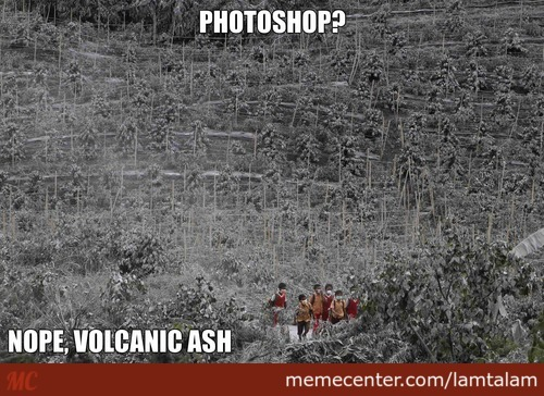 A Picture Taken Near The Sinabung Volcano