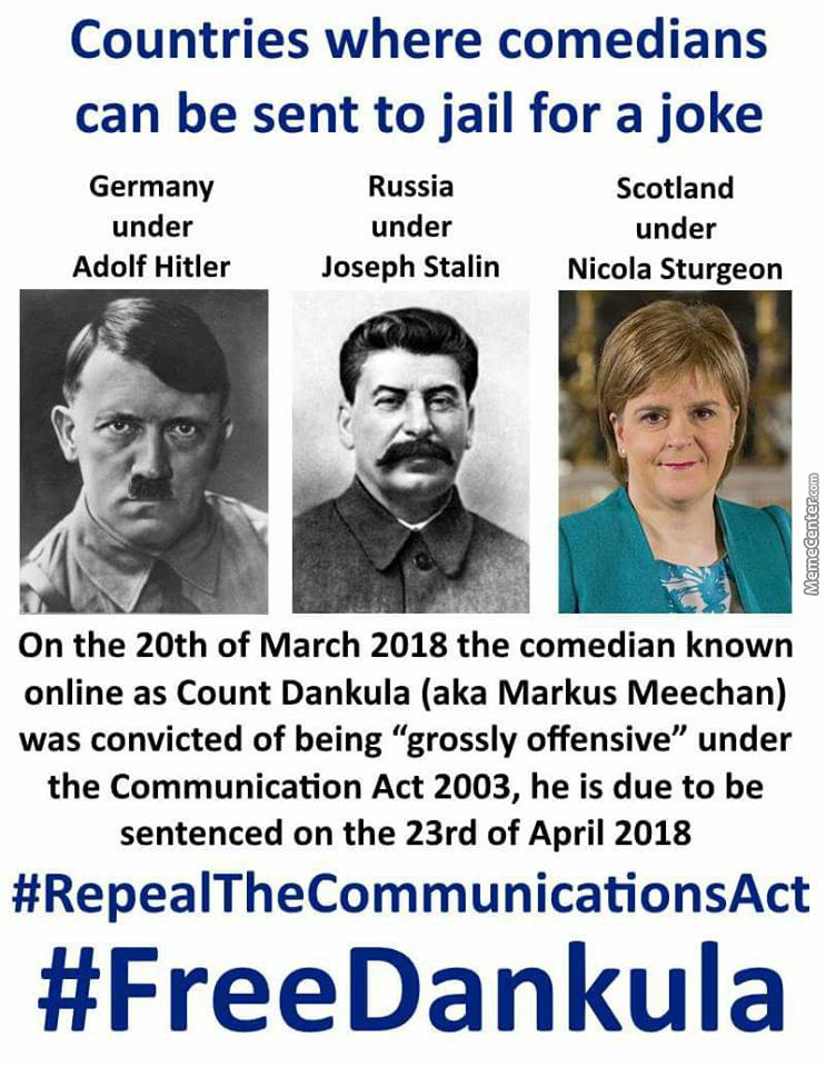 A Scottish Man Is Going To Jail For A Joke Because The Judge Decided That Context Doesn't Matter.