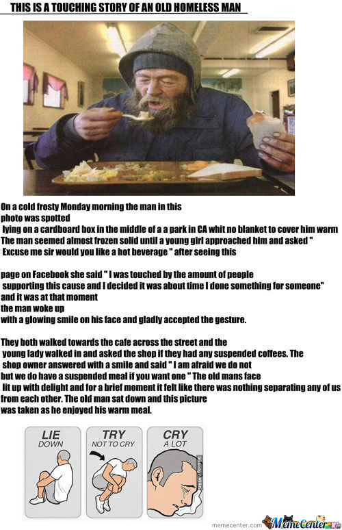 A True Touching Story Of An Old Homeless Man