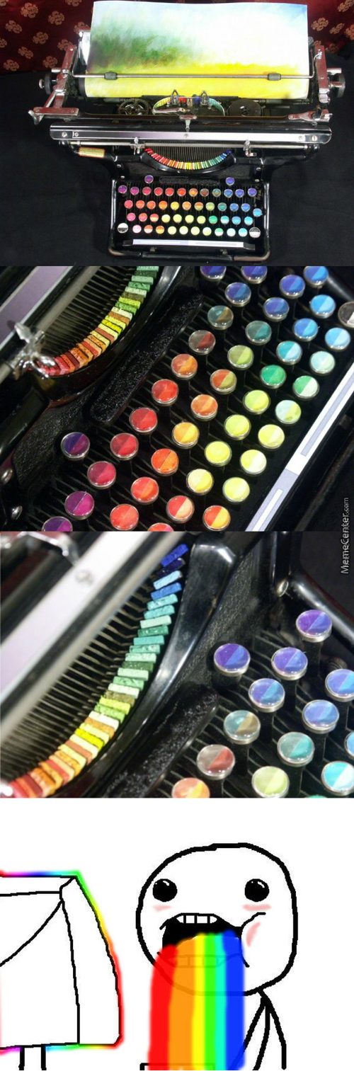 A Typewriter With The Keys And Letters Replaced With Color Pads, Creating A Functional Painting Device Called The Chromatic Typewriter