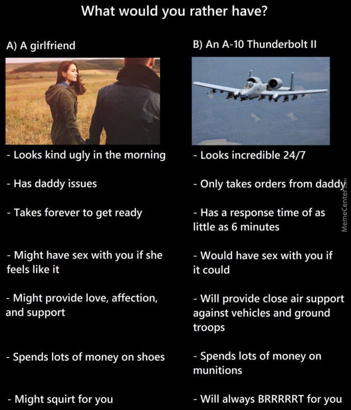 A Very Interesting Comparison. May Start Searching For An A-10
