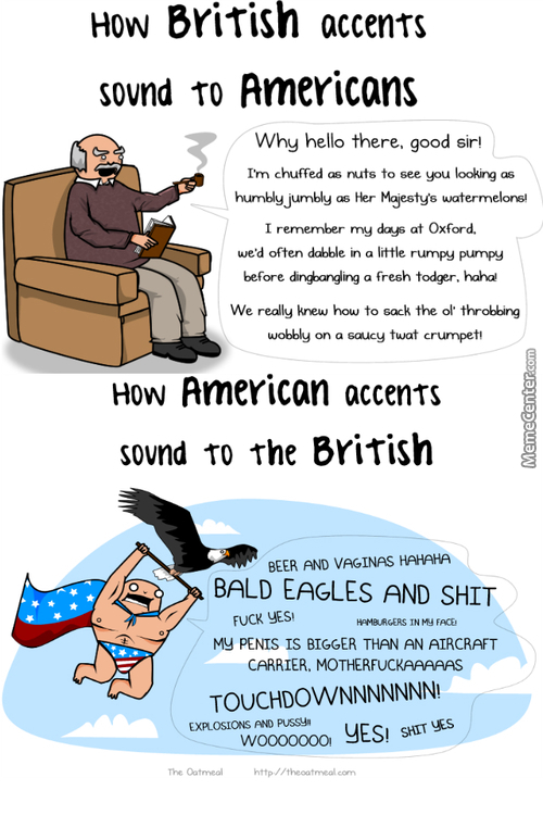 "Accents And Perspectives. Credits To: ""theoatmeal"""
