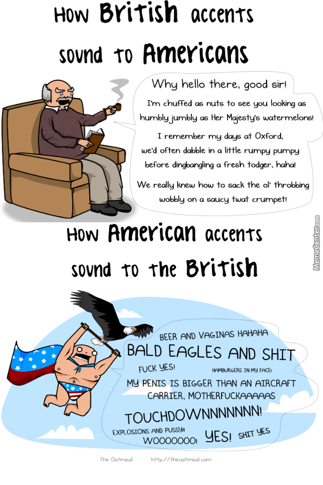 """Accents And Perspectives. Credits To: """"theoatmeal"""""""
