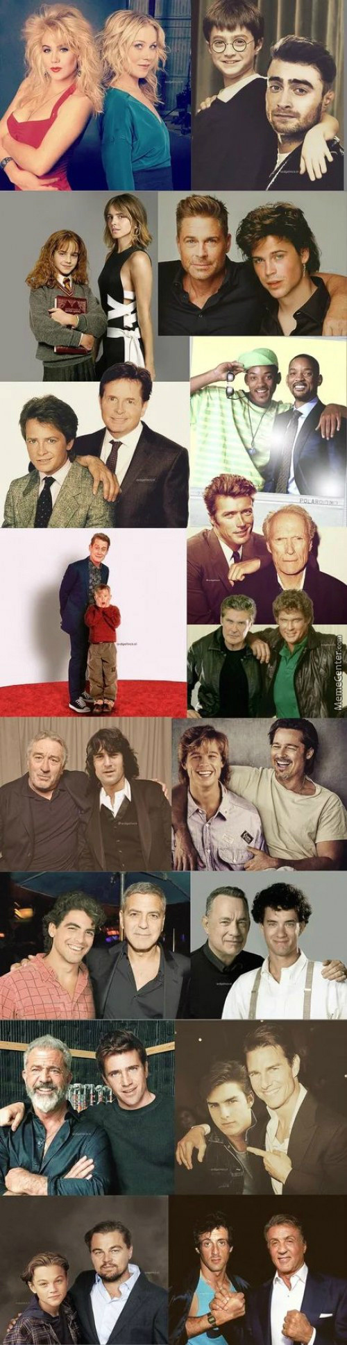 Actors With Their Younger Self