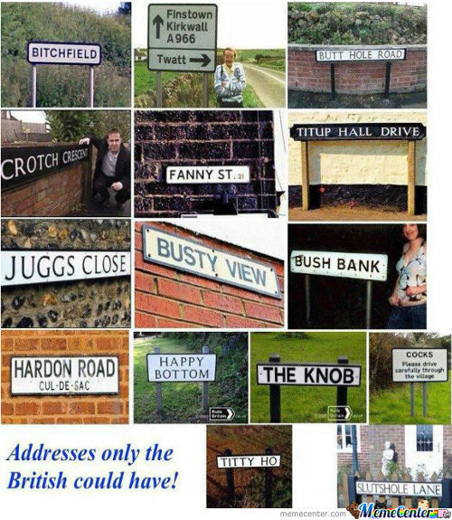 Addresses Only The British Could Have