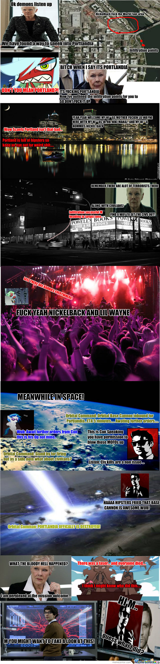 Adventures Of Kneesocks And Scanty: Nickelback Fuck The World Tour 2013: Part 2 With Con Artist!