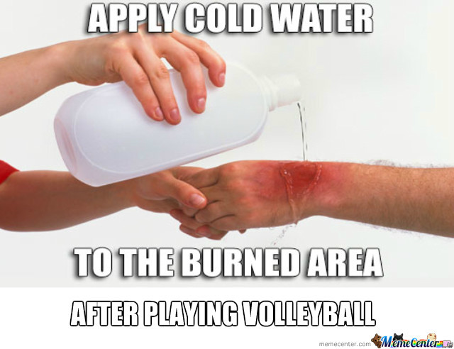 After Playing Volleyball