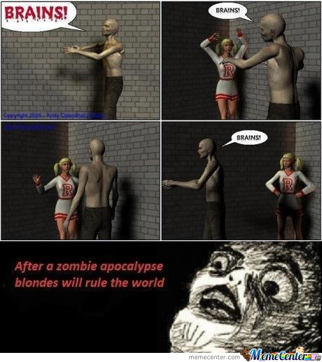 After The Zombie Apocalypse, Blondes Will Rule The World